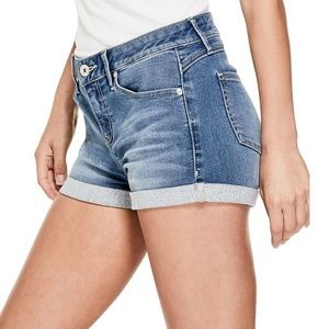 New G by GUESS Parsons Low-Rise Cuffed Shorts sz31